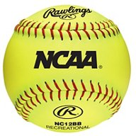 Rawlings Girls' 12 in Recreational Fast-Pitch Softballs 6-Pack