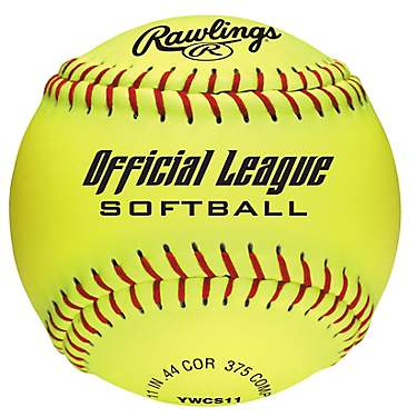 Rawlings Girls' 11 in Recreational Fast-Pitch Softballs 6-Pack