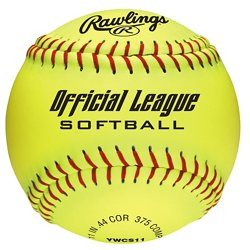 Girls' 11 in Recreational Fast-Pitch Softballs 6-Pack