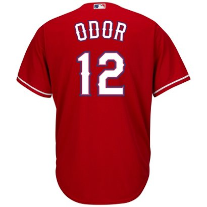 c9d1ca65 Academy / Majestic Men's Texas Rangers Rougned Odor #12 COOL BASE®  Alternate Replica Jersey. Academy. Hover/Click to enlarge