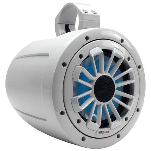MB Quart Nautic Series 120W 6-1/2' 2-Way Wake Tower Marine Speaker with LED Illumination