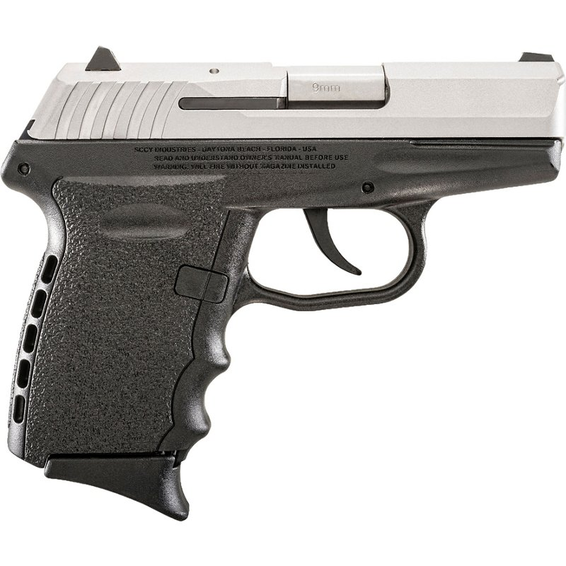 SCCY CPX-2 Series 9mm Semiautomatic Pistol Black/Silver – Handgun Semiauto Center Fire at Academy Sports