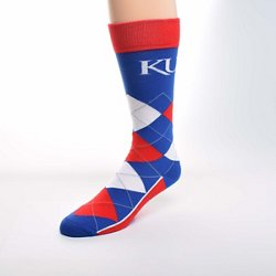 For Bare Feet Unisex University of Kansas Team Pride Flag Top Dress Socks