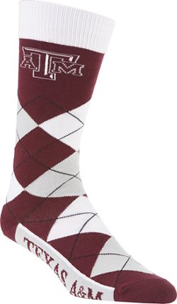 For Bare Feet Unisex Texas A&M University Team Pride Flag Top Dress Socks