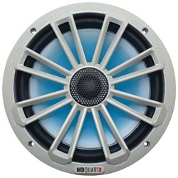 "MB Quart Nautic Series 140W 8"" 2-Way Coaxial Marine Speaker with LED Illumination"