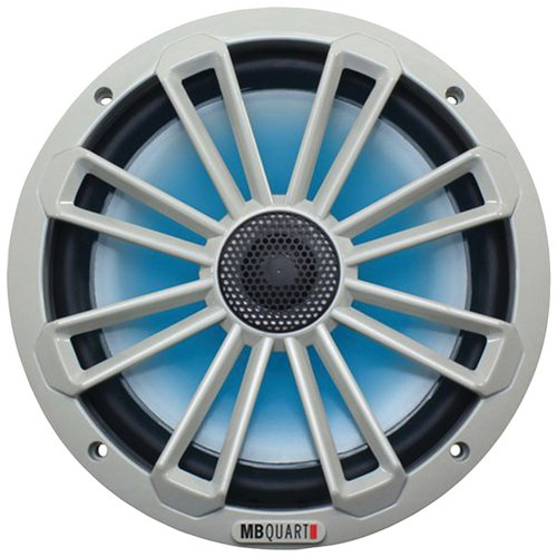 MB Quart Nautic Series 140W 8' 2-Way Coaxial Marine Speaker with LED Illumination