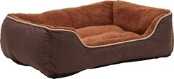 """Dallas Manufacturing Company 27"""" x 36"""" Plaid Boxed Dog Bed"""