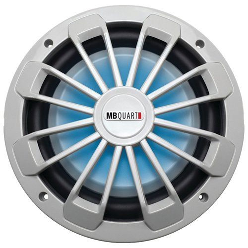 MB Quart Nautic Series Marine-Certified 600W Shallow Subwoofer with LED Illumination