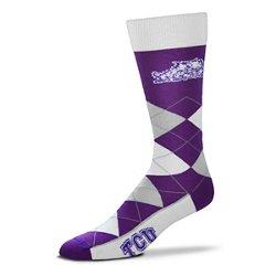 For Bare Feet Unisex Texas Christian University Team Pride Flag Top Dress Socks