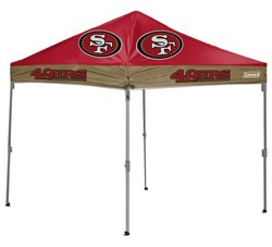 Coleman® San Francisco 49ers 10' x 10' Straight-Leg Canopy