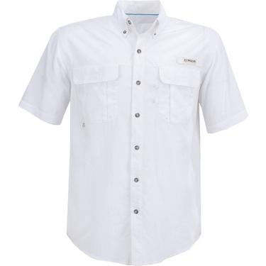7c8088d0867396 Magellan Outdoors Men's Laguna Madre Solid Short Sleeve Fishing Shirt