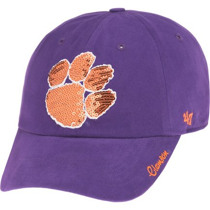 huge discount f2d81 16e53 ... norway 47 clemson university womens sparkle team color clean up cap  fd8ac ad2da
