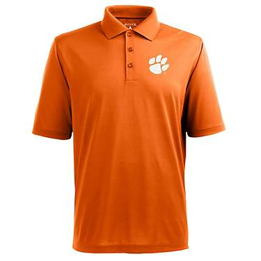 Antigua Men's Clemson University Piqué Xtra Lite Polo Shirt