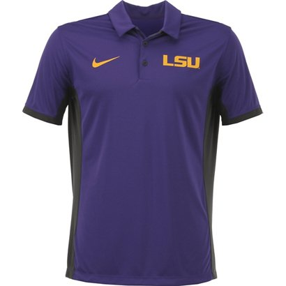 c32f37cfd96 ... Nike Men s Louisiana State University Dri-FIT Evergreen Polo Shirt. LSU  Tigers Clothing. Hover Click to enlarge