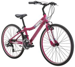 "Diamondback Girls' Clarity 24"" 14-Speed Performance Hybrid Bike"
