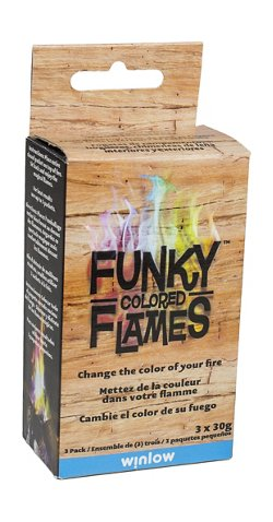 Funky Colored Flames Color-Changing Flame Crystals 3-Pack