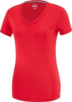 BCG Women's Training Solid Short Sleeve V-neck Tech T-shirt