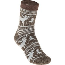 Women's Lodge Moose Pattern Socks