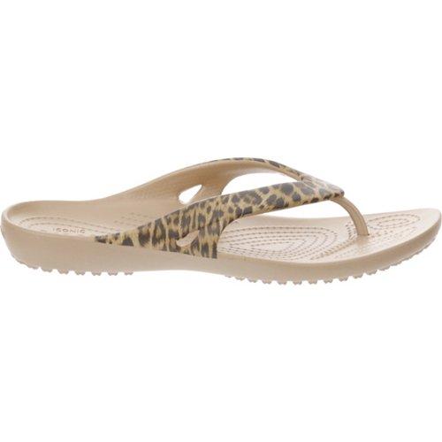 Crocs™ Women's Kadee II Leopard Print Flip-Flops