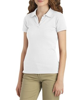 Dickies Girls' Schoolwear Stretch Pique Knit Polo Shirt
