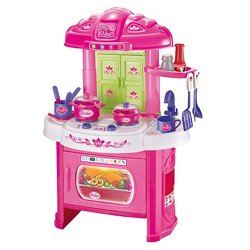 World Tech Toys Glamour Girlz My Kitchen 16-Piece Playset with Light and Sound