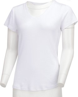 Women's Horizon Short Sleeve V-neck Solid Heather Top