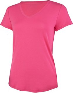 BCG Women's Horizon Short Sleeve V-neck Solid Heather Top