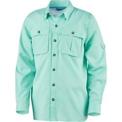 Boys' Fish Gear Back Country Long Sleeve Fishing Shirt
