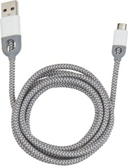 iHome 5' Double-Injected Nylon Micro USB Charge and Sync Cable
