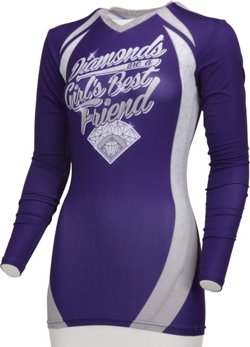 Boombah Women's Diamonds Long Sleeve Compression Shirt
