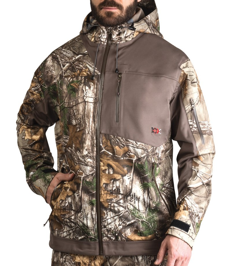 10X Men's Silent Storm Rainshell Jacket - Camo Clothing, Adult Insulated Camo at Academy Sports thumbnail