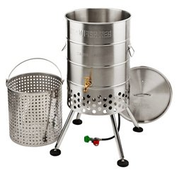 Outdoor Gourmet Propane 80 qt Crawfish Keg with Jet Burner