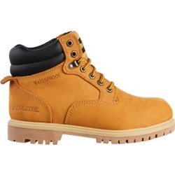 Men's Nubuck Steel Toe Lace Up Work Boots