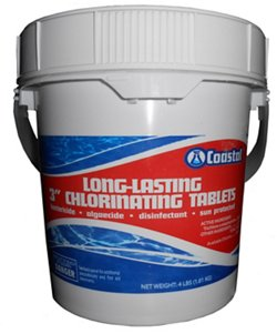 "Coastal Long-Lasting 3"" 4 lb. Chlorinating Tablets"