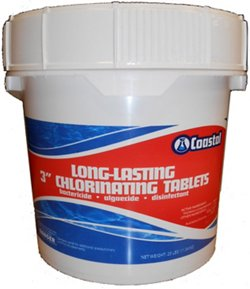 "Coastal Long-Lasting 3"" 25 lb. Chlorinating Tablets"