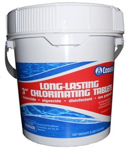 "Coastal Long-Lasting 3"" 8 lb. Chlorinating Tablets"