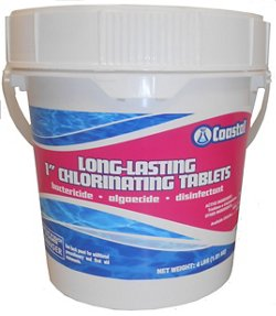 "Coastal Long-Lasting 1"" 4 lb. Chlorinating Tablets"