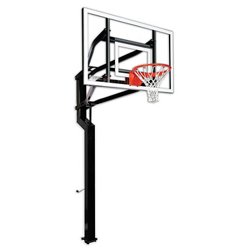 Captain 60 in Inground Tempered-Glass Basketball Hoop