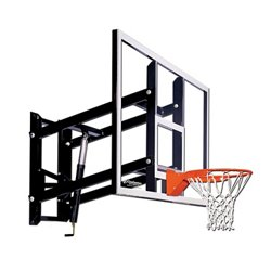 72 in Wall Mounted Tempered-Glass Basketball Hoop