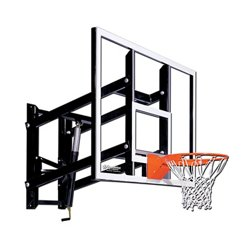 60 in Wall Mounted Tempered-Glass Basketball Hoop