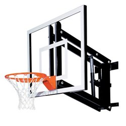 48 in Wall Mounted Tempered-Glass Basketball Hoop