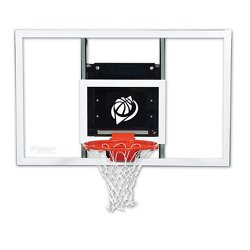 Baseline 60 in Wall Mounted Tempered-Glass Basketball Hoop