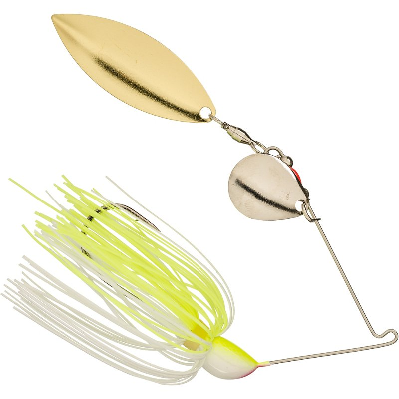 Strike King Hack Attack 3/8 oz. Spinnerbait Chartreuse White – Fresh Water Wire Baits at Academy Sports