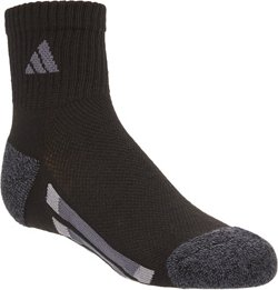 adidas Kids' Vertical Stripe Quarter Socks 6 Pack