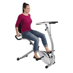 Stamina® 2-in-1 Recumbent Exercise Bike Workstation and Standing Desk