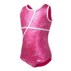 Capezio Girls' Future Star Foil Printed Leotard with Back Keyhole