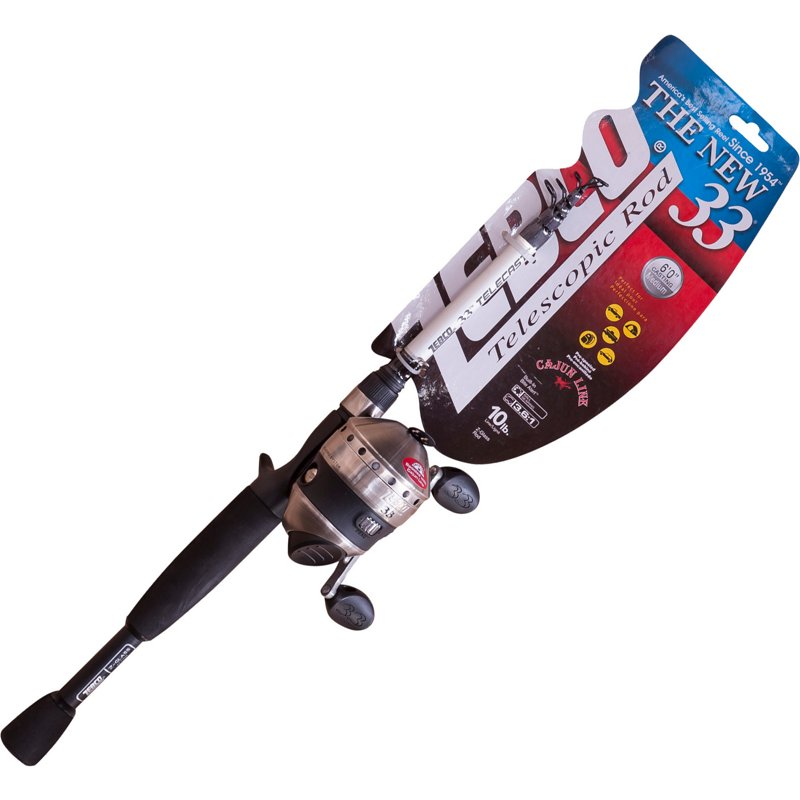Zebco 33 Spincast Telescoping Freshwater Rod and Reel Combo Black – Fishing Combos, Spincast Combos at Academy Sports