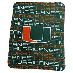Logo University of Miami 50 in x 60 in Classic Fleece Blanket