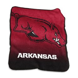 Logo University of Arkansas 50 in x 60 in Raschel Throw