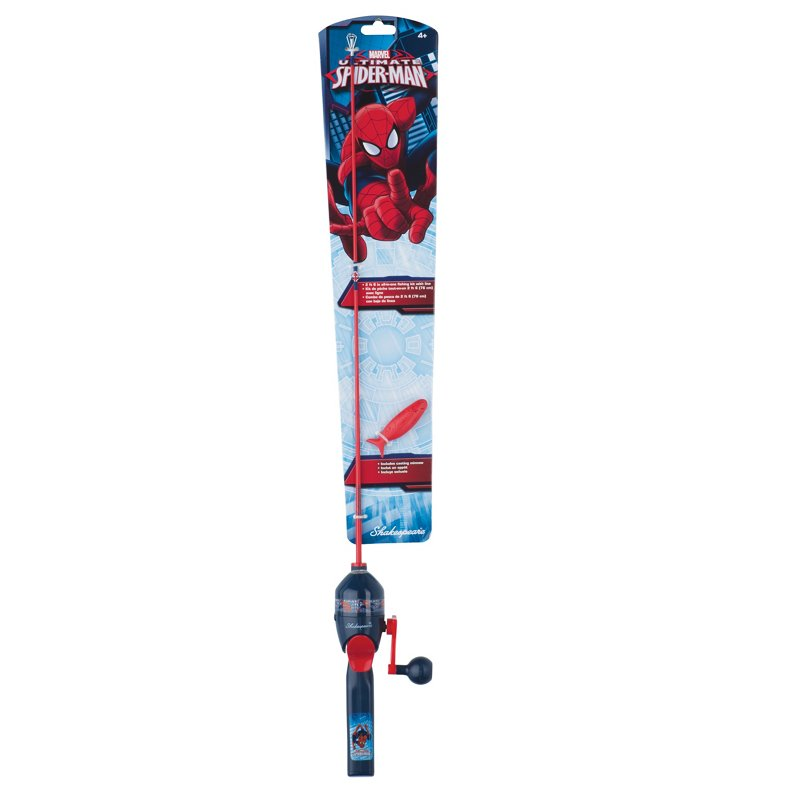 Shakespeare Spider-Man 2'6″ Spincast Rod and Reel Combo Red, 5 – Packaged Combos at Academy Sports